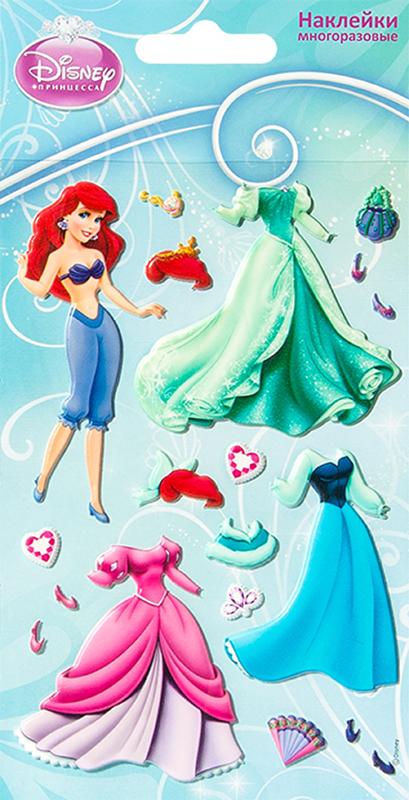 Набор стикеров Disney Ариель с нарядамиМногоразовые стикеры Disney Ариель с нарядами приносят пользу детям и их родителям &amp;ndash; развивают мелкую моторику, учат детей творчеству, вызывают улыбки и положительные эмоции.<br>
