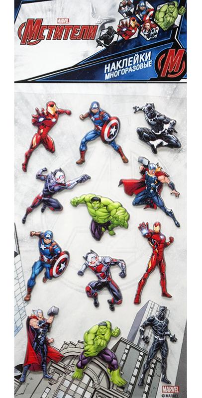 Набор стикеров Marvel Мстители 1 наклейки disney мстители 100 шт