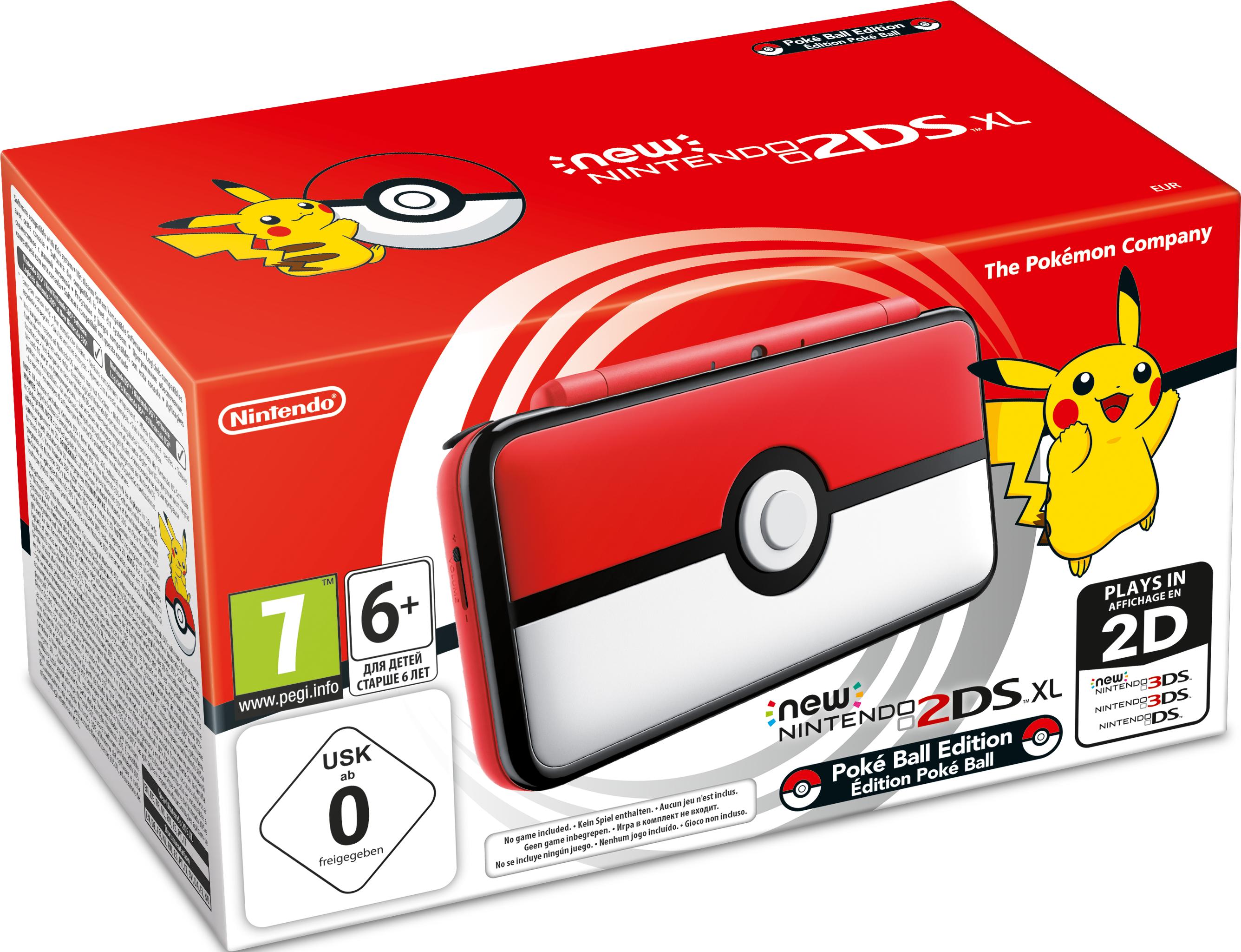 Игровая консоль New Nintendo 2DS XL. Pokeball Edition new nintendo 2ds xl white orange портативная игровая приставка