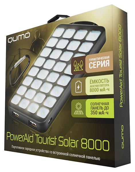 Портативное зарядное устройство Qumo PowerAid Tourist Solar на солнечной батарее стол мастер триан 41 правый венге мст уст 41 вм 16 пр