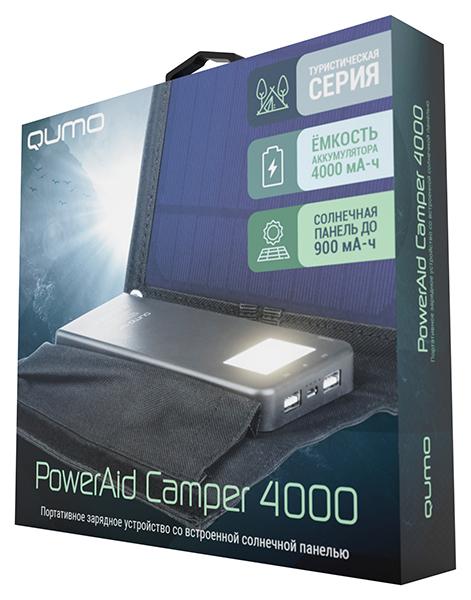 Портативное зарядное устройство Qumo PowerAid Camper на солнечной батарее внешний аккумулятор asus zenpower abtu005 10050mah gold