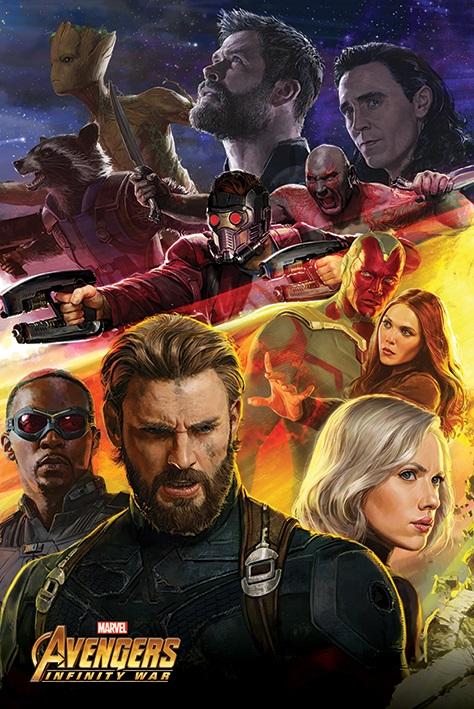 Плакат Avengers Infinity War: Captain America pg8017 super heroes avengers movie scorpion sdcc captain america stan lee building blocks model children bricks toy