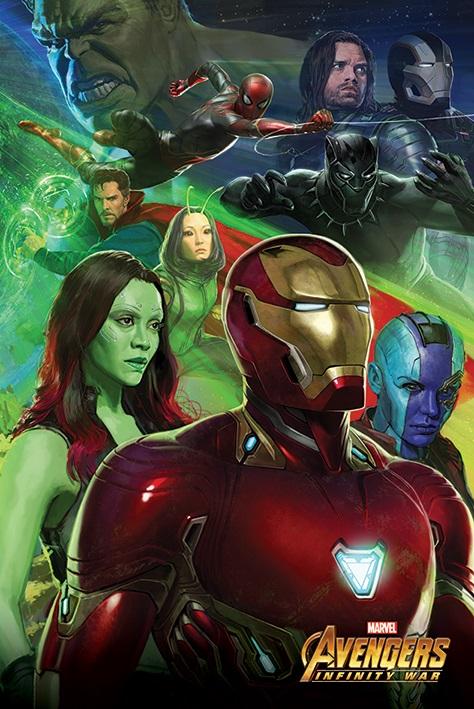 Плакат Avengers Infinity War: Iron Man justice league superhero avengers infinity war iron man robot movable tony stark pvc action figure collectible model toy l535