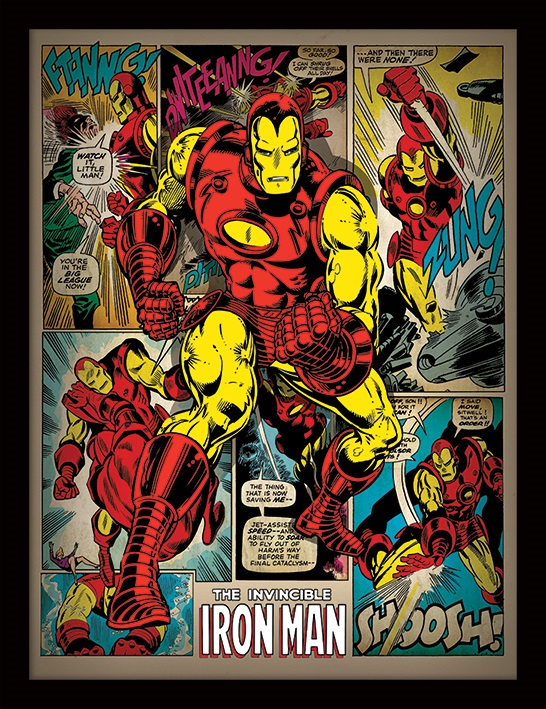 все цены на Постер в раме Iron Man: Retro