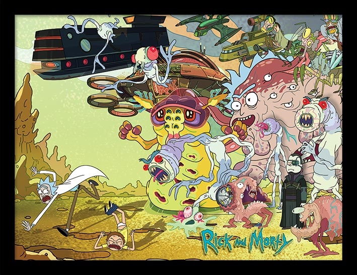 Постер в раме Rick And Morty: Creature Barrage creature commandos