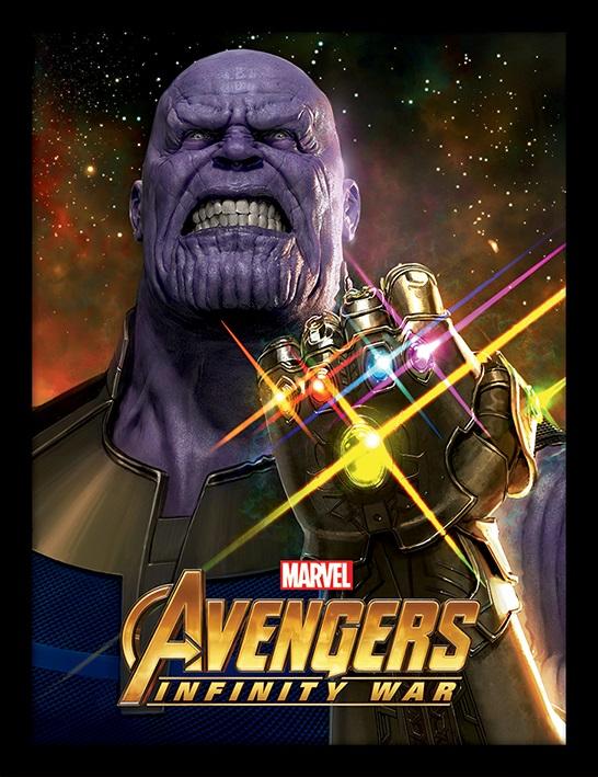 Постер в раме Avengers Infinity War: Infinity Gauntlet Power
