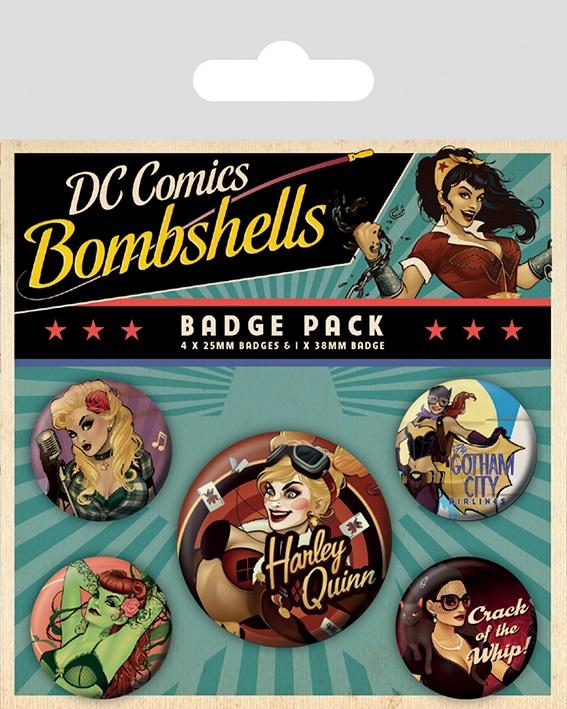 Набор значков DC Comics: Bombshells scribblenauts unmasked a dc comics adventure
