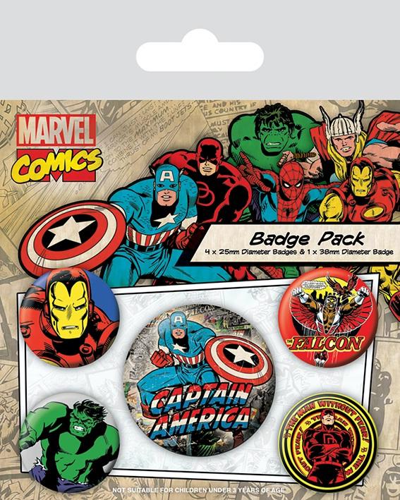 все цены на Набор значков Marvel Retro: Captain America