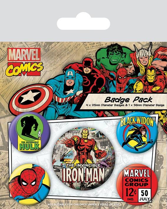 все цены на Набор значков Marvel Retro: Iron Man