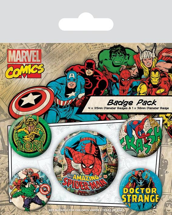 все цены на Набор значков Marvel Retro: Spider-Man
