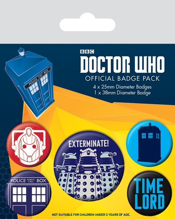 Набор значков Doctor Who: Exterminate набор значков doctor who