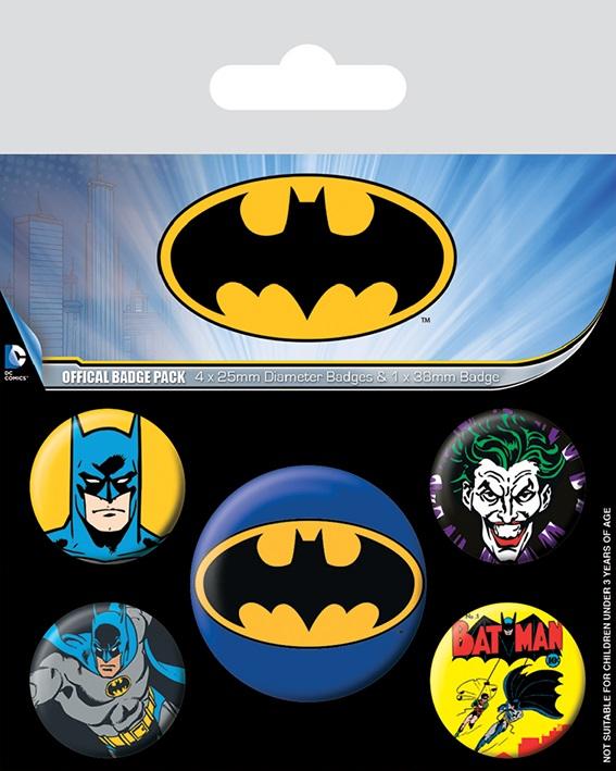 Набор значков Batman: Badge Pack mens batman logo badge bifold wallet dft 1327