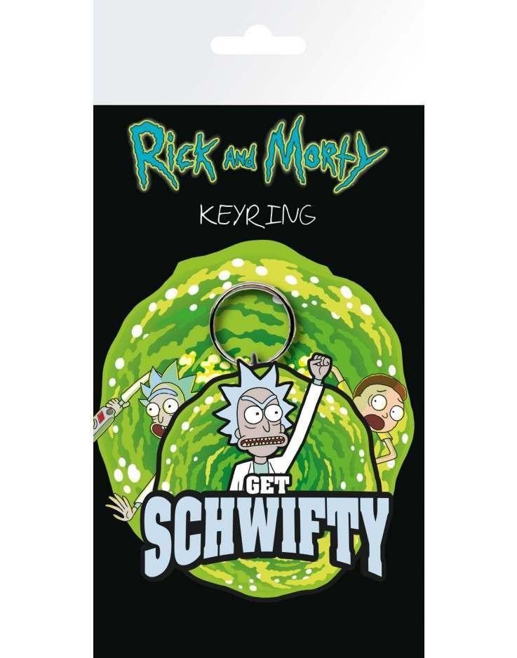 Брелок Rick and Morty: Get SchwiftyБрелок Rick and Morty: Get Schwifty создан по мотивам популярного американского мультсериала «Рик и Морти».<br>