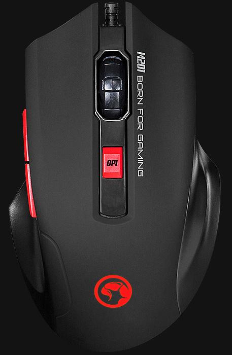 Мышь Marvo Scorpion M201 проводная оптическая игровая с подсветкой для PC m201 3f