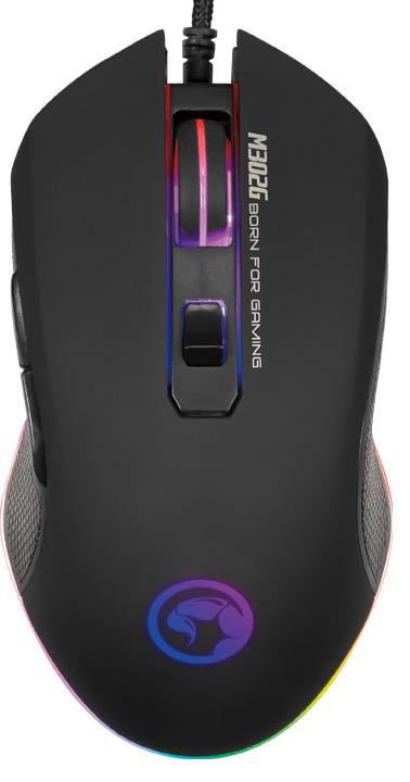 Мышь Marvo Scorpion M302 проводная оптическая игровая с подсветкой для PC игровая гарнитура проводная marvo h8312 bk rd красный черный
