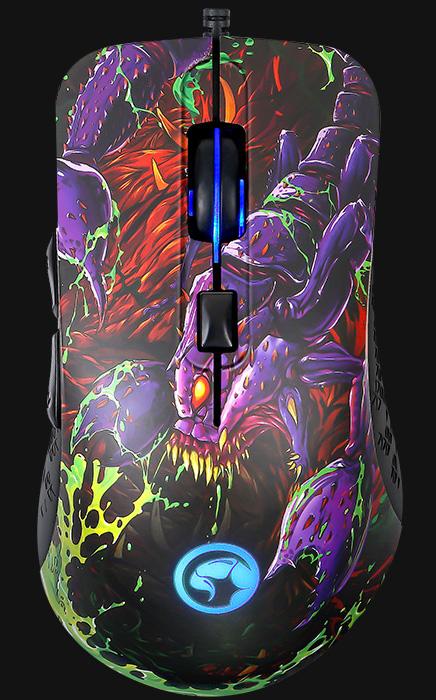 Мышь Marvo Scorpion G932 проводная оптическая игровая с подсветкой для PC игровая гарнитура проводная marvo h8312 bk rd красный черный
