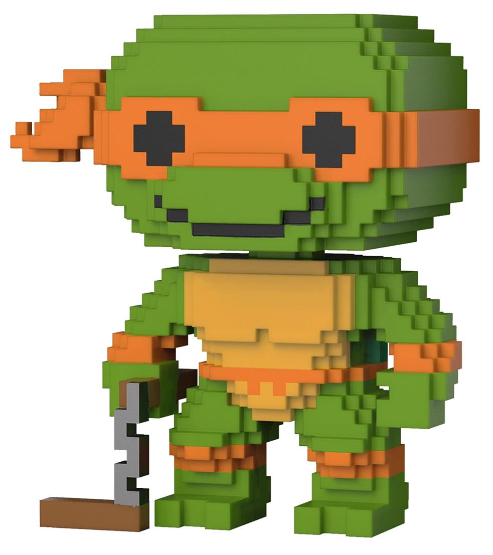 Фигурка Funko POP Television: Teenage Mutant Ninja Turtles – Michelangelo 8-Bit (9,5 см) 2015 new tmnt teenage mutant ninja turtles weapon cosplay anime action figure plastic samurai sword model toy costumes mutant