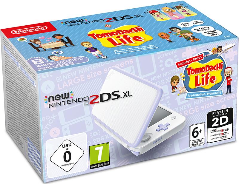 Игровая консоль New Nintendo 2DS XL (белый / лавандовый) + игра Tomodachi Life new nintendo 2ds xl white orange портативная игровая приставка