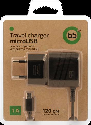 Зарядное устройство BB 012-001 microUSB 1А 1.2м (черный)