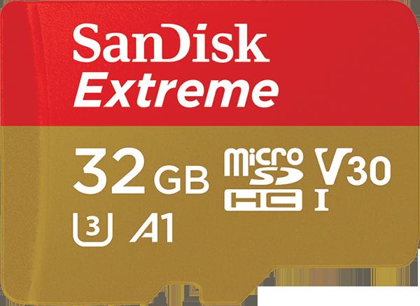 Карта памяти SanDisk Extreme microSD UHS-I 32GB Class 10 аккумуляторы для цифровых фото и видео камер casio np 80 np80 zs150 zs6 n1 zs100 n20 je10