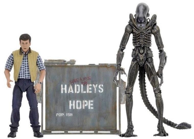 Набор коллекционных фигурок Aliens: Hadley's Hope Set Carter J. Burke & Xenomorph Warrior draw 50 aliens