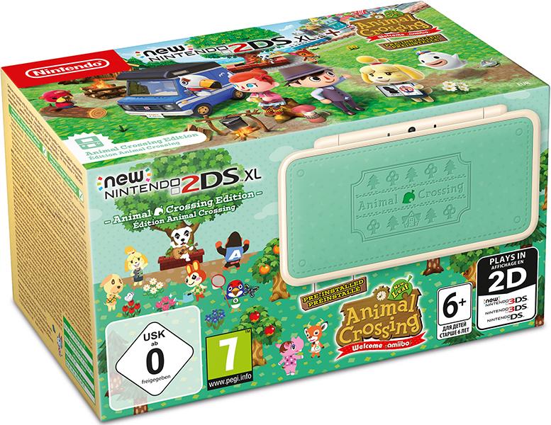 Игровая консоль New Nintendo 2DS XL Animal Crossing Edition + игра Animal Crossing: New Leaf – Welcome amiibo new nintendo 2ds xl white orange портативная игровая приставка