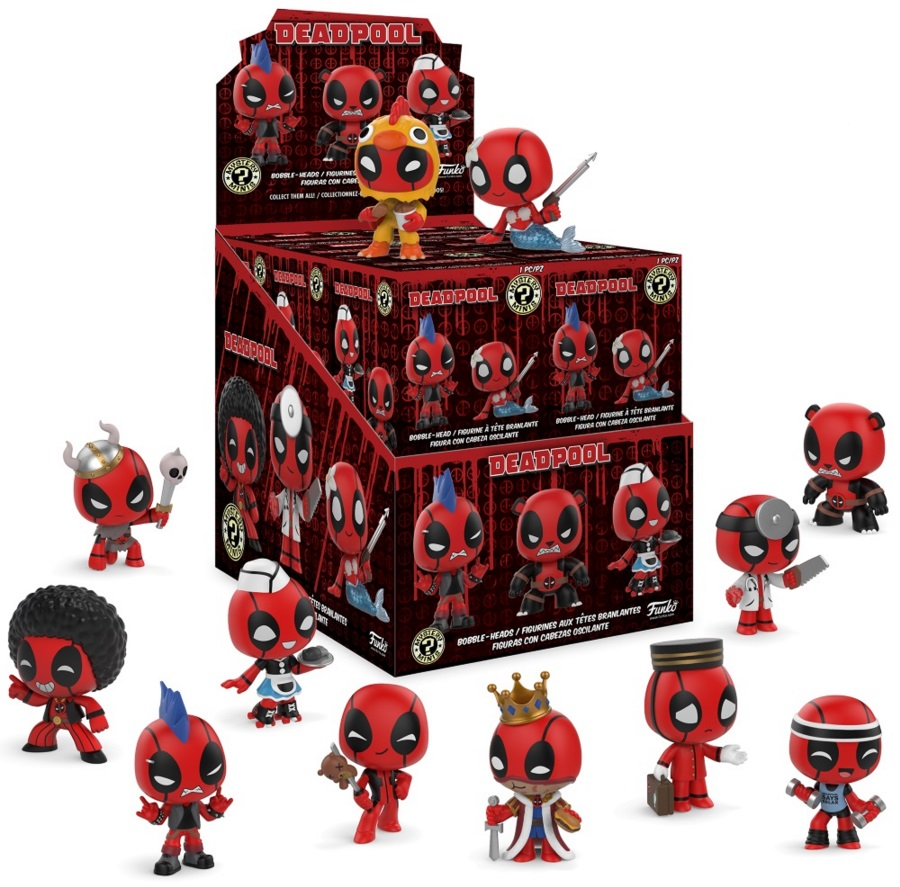 Фигурка Deadpool – Mystery Minis Bobble-Heads (в ассортименте) фигурка funko pop bobble marvel black panther nakia