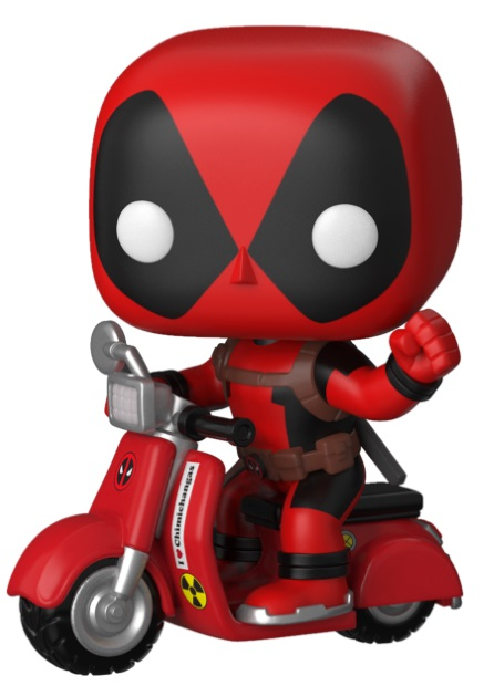 брелок deadpool head 3d Фигурка Funko POP Rides: Deadpool – Deadpool On Scooter Bobble-Head (9,5 см)