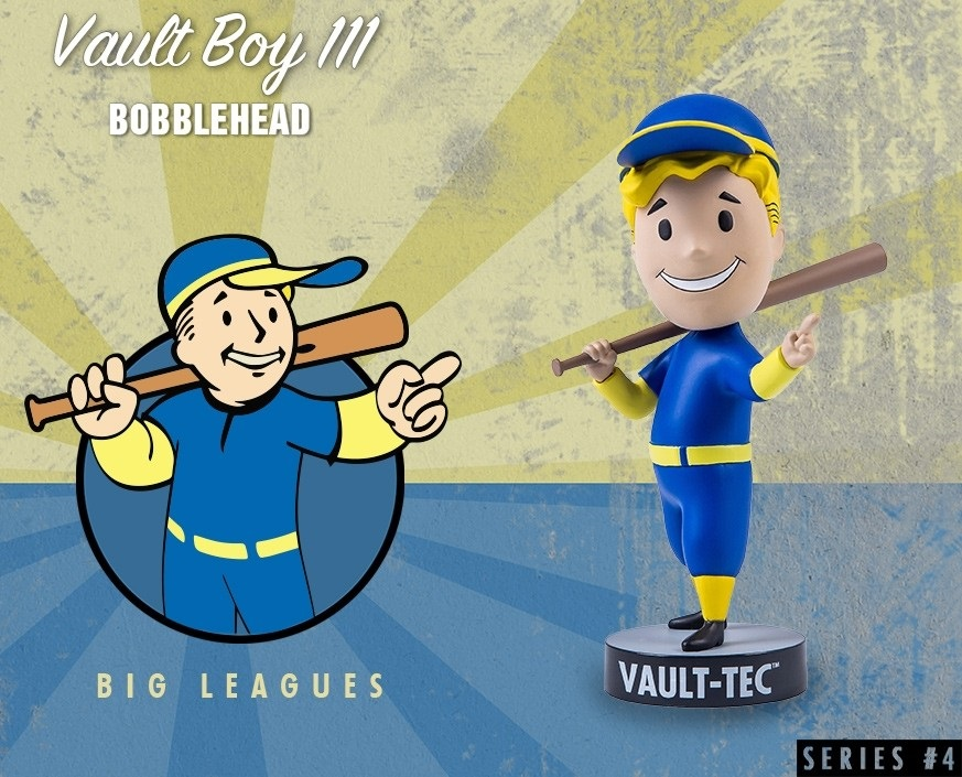 Коллекционная фигурка Fallout 4 Vault Boy 111 Bobbleheads: Big Leagues – Series Four (13 см) фигурка fallout 4 vault boy 111 bobbleheads series two explosives 13 см