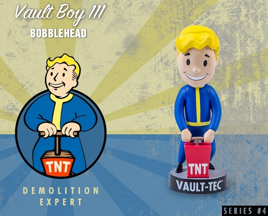 Коллекционная фигурка Fallout 4 Vault Boy 111 Bobbleheads: Demolition Expert – Series Four (13 см) demolition