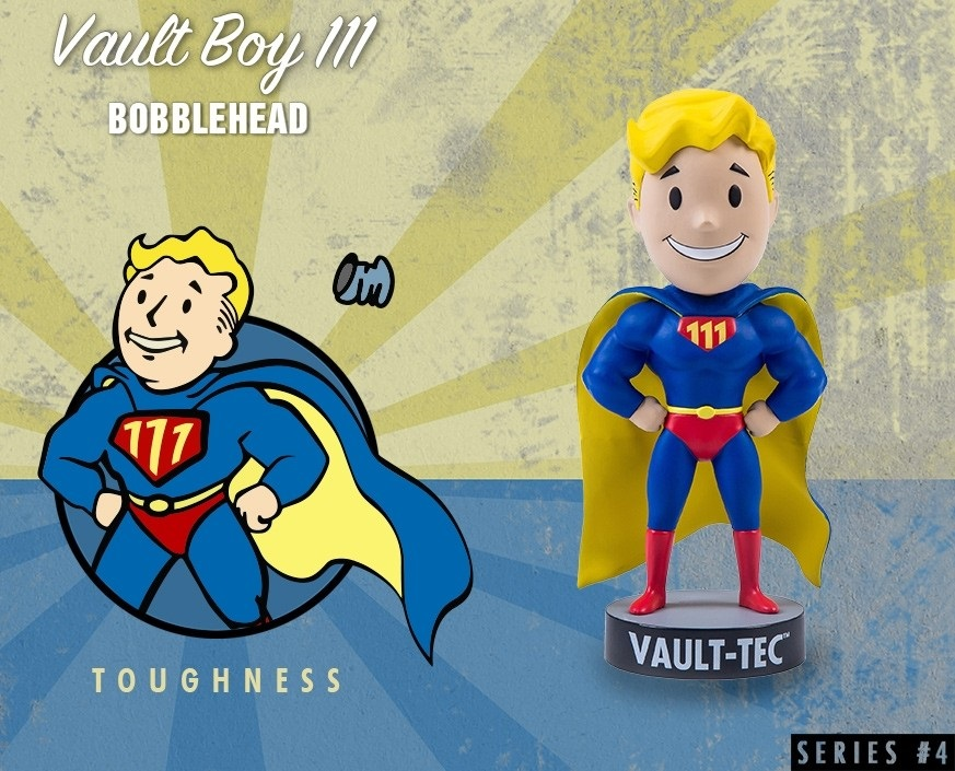 Коллекционная фигурка Fallout 4 Vault Boy 111 Bobbleheads: Toughness – Series Four (13 см) фигурка fallout 4 vault boy 111 bobbleheads series two explosives 13 см
