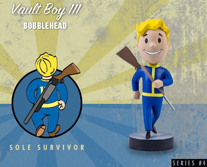 Коллекционная фигурка Fallout 4 Vault Boy 111 Bobbleheads: Sole Survivor – Series Four (13 см) фигурка fallout 4 vault boy 111 bobbleheads series two explosives 13 см