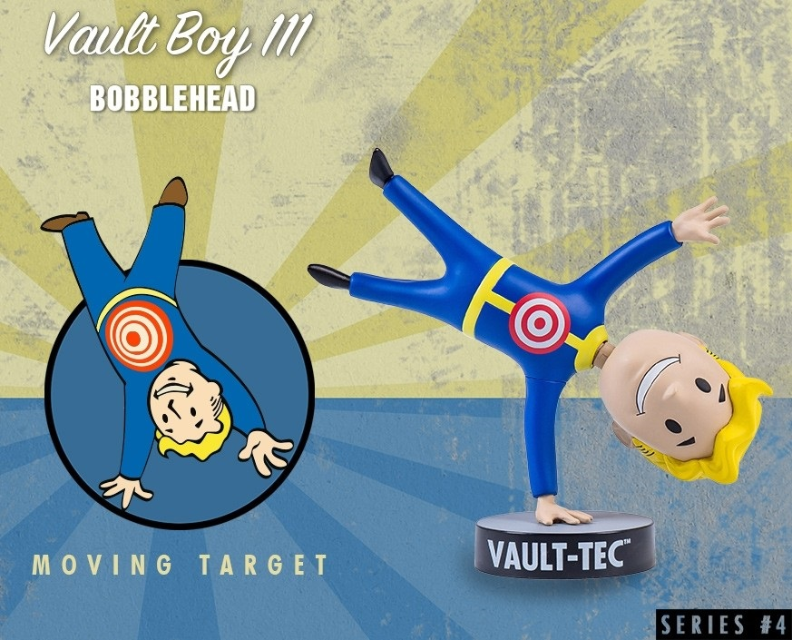 Коллекционная фигурка Fallout 4 Vault Boy 111 Bobbleheads: Moving Target – Series Four (13 см) фигурка fallout 4 vault boy 111 bobbleheads series two explosives 13 см