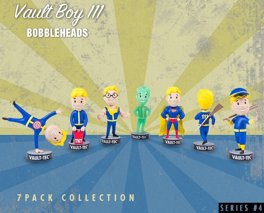 Набор коллекционных фигурок Fallout 4 Vault Boy 111 Bobbleheads: 7-Pack – Series Four (13 см) фигурка fallout 4 vault boy 111 bobbleheads series two explosives 13 см