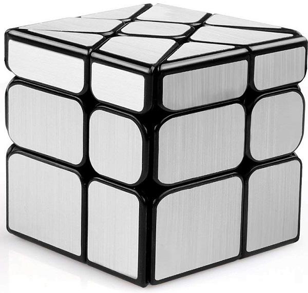 Головоломка Зеркальный кубик: Колесо (серебрянный)