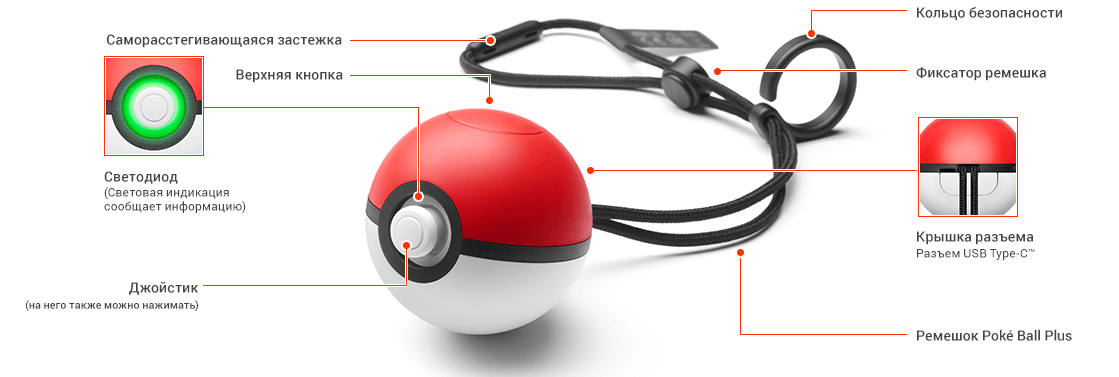 Функции Poke Ball Plus