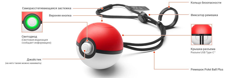 Функции Poke Ball Plus
