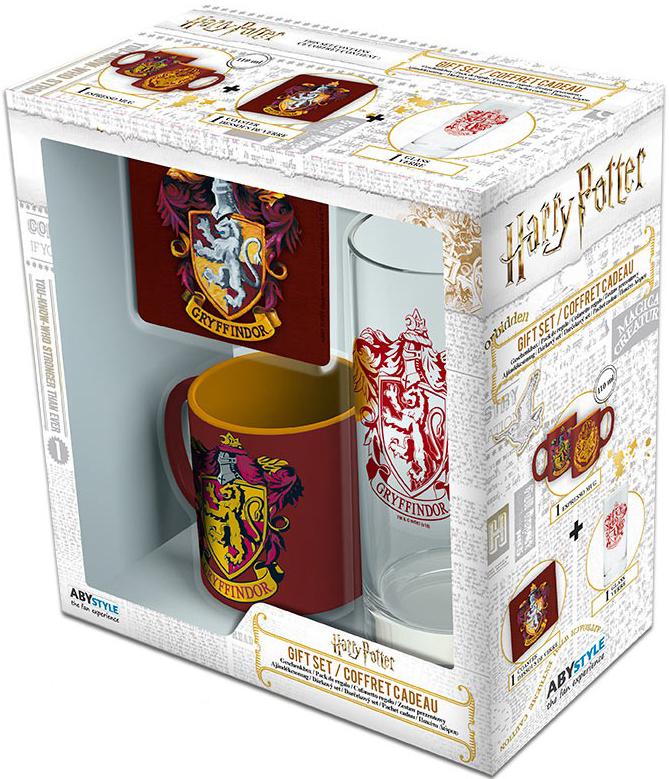 Набор Harry Potter: Gryffindor (мини кружка + подставка + стакан) фото
