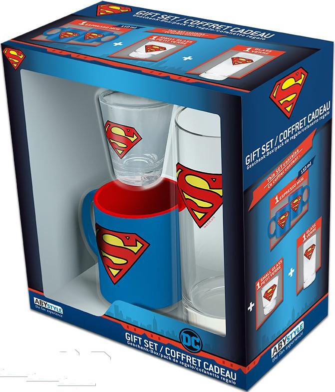 Набор DC Comics: Superman (мини кружка + стакан + рюмка)