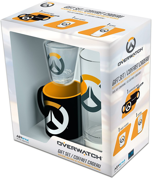 Набор Overwatch Logo (кружка мини + стакан + рюмка)