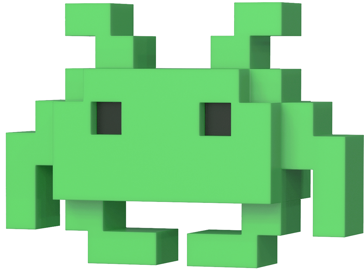 Купить со скидкой Фигурка Funko POP 8-Bit: Space Invaders – Medium Invader (9,5 см)