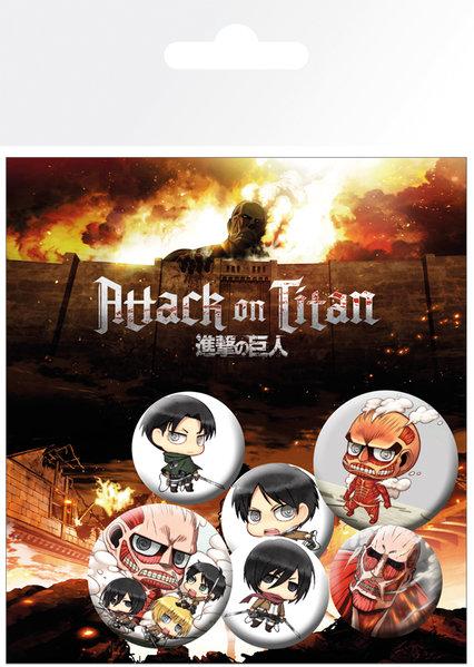 Набор значков Attack On Titan фото
