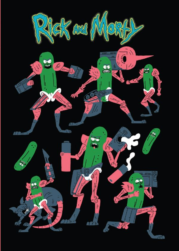 Блокнот Rick And Morty: Рик-огурчик