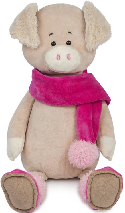 Мягкая игрушка Свинка Вероника в шарфе (20 см) фото
