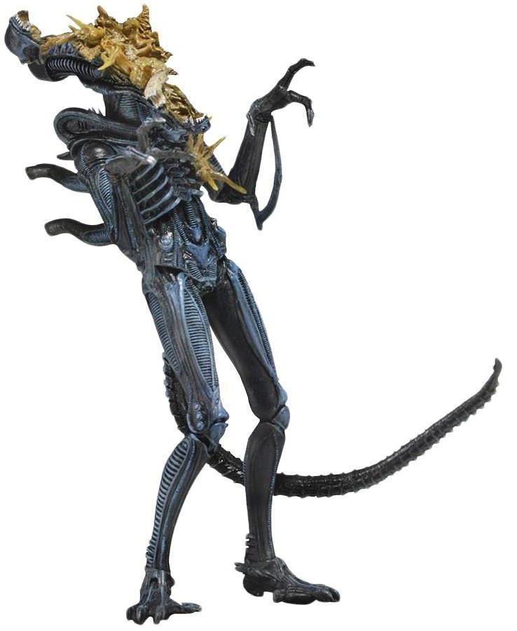 Фигурка NECA: Aliens Series 12 – Xenomorph Warrior Battle Damaged (Blue) (18 см) фото