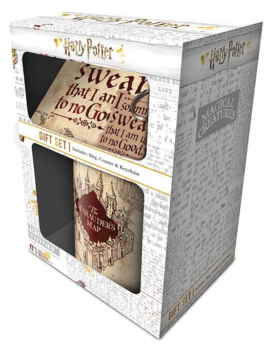 Набор Harry Potter – Marauders Map (кружка + подставка + брелок) пазл harry potter the marauders map 500 элементов