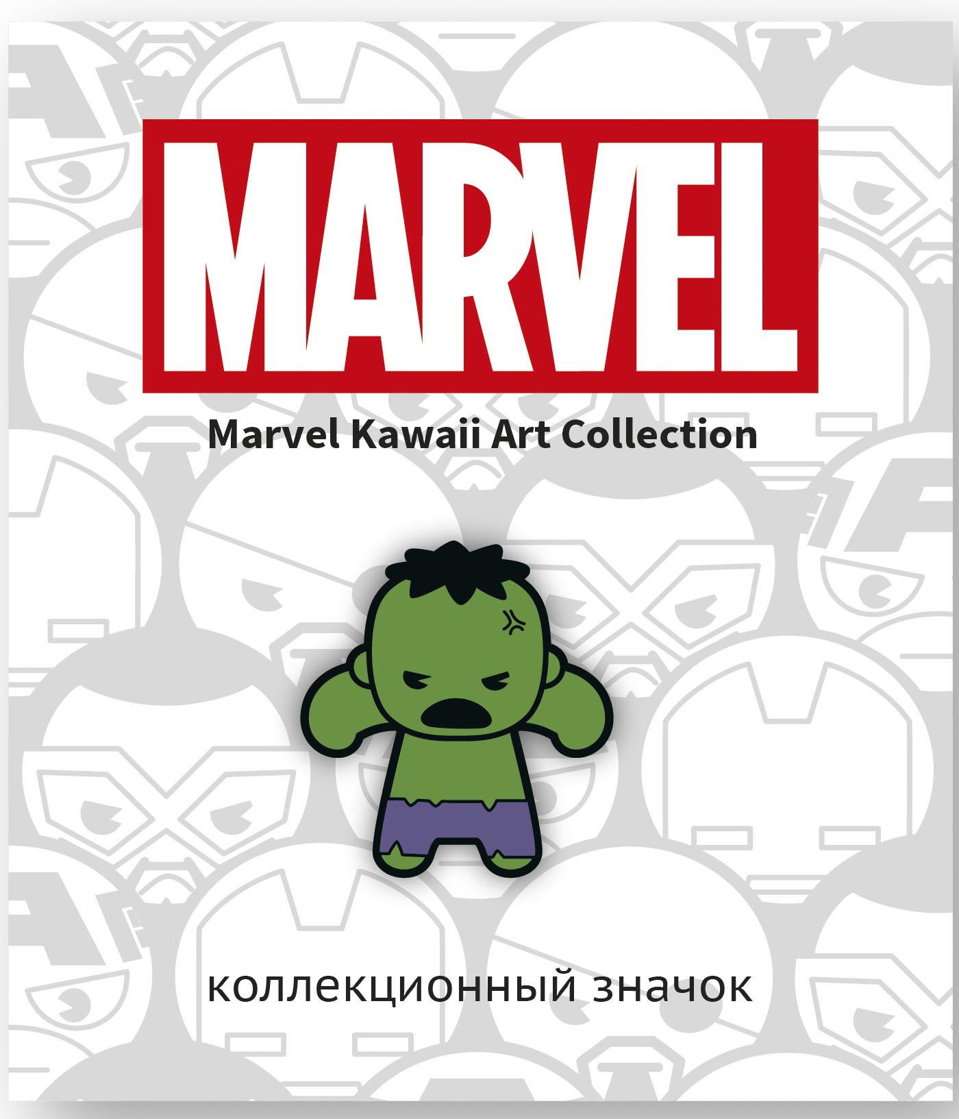 Значок деревянный Marvel Kawaii: Халк
