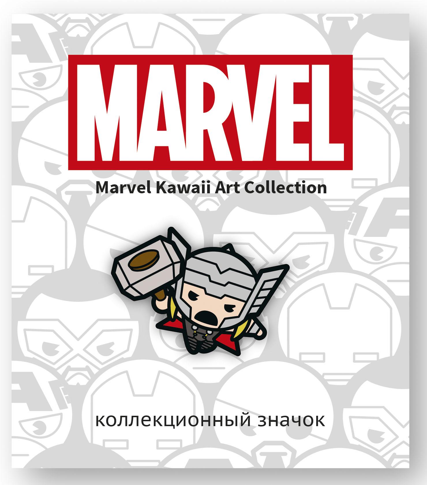 Значок деревянный Marvel Kawaii: Тор