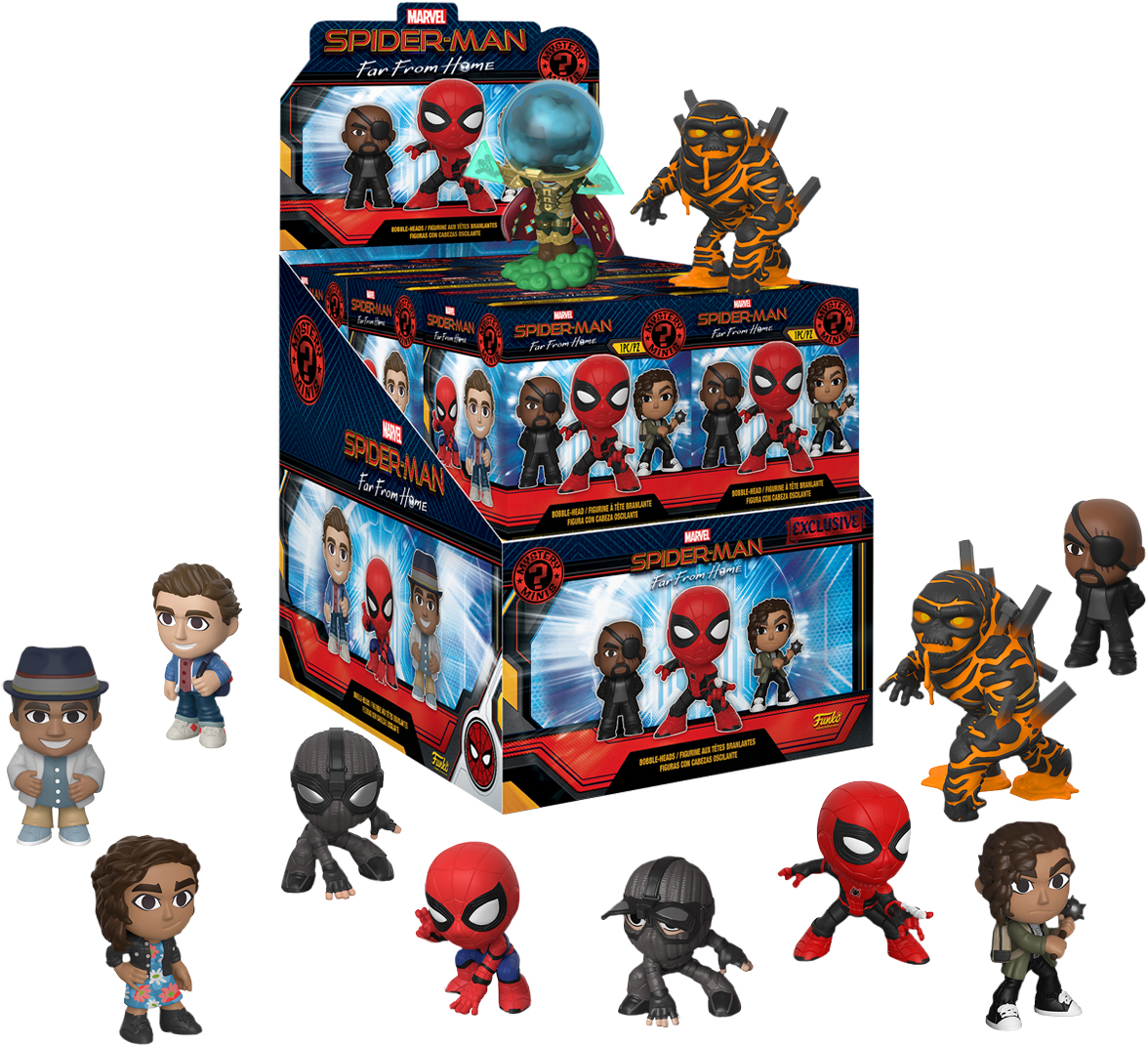 Фигурка Funko Mystery Minis Blind Box: Spider-Man: Far From Home – Exclusive 1 (1 шт. в ассортименте) фото