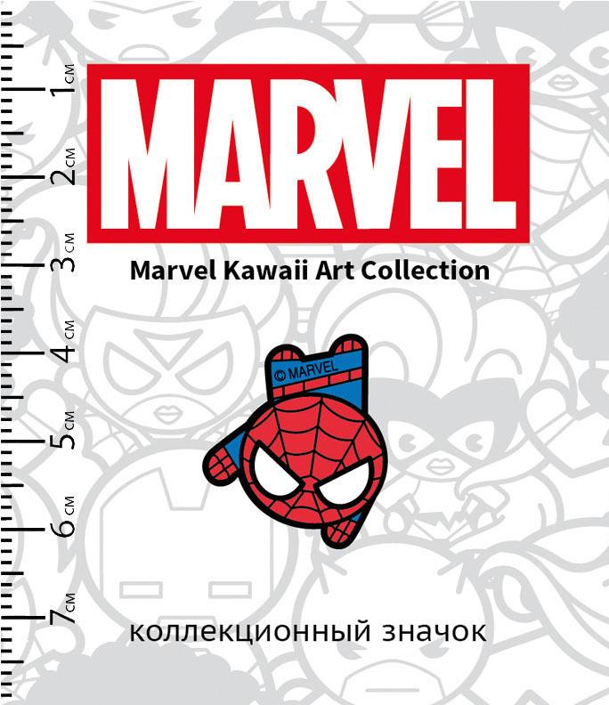 Значок деревянный Marvel Kawaii: Человек-Паук 3 фото